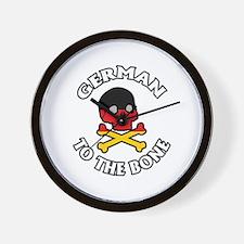 German To The Bone Wall Clock