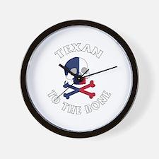 Texan To The Bone Wall Clock