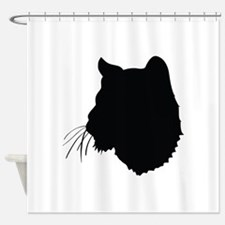 Bobcat Silhouette Shower Curtain