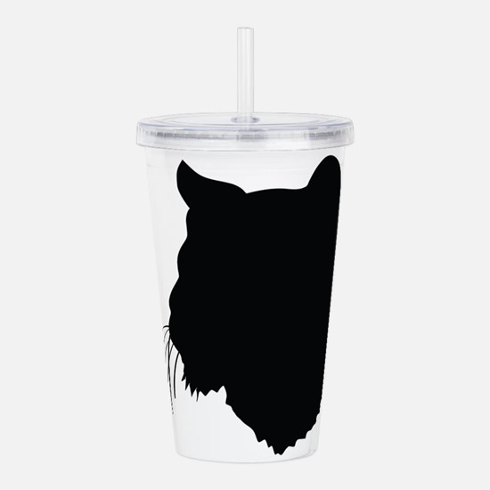 Bobcat Silhouette Acrylic Double-wall Tumbler