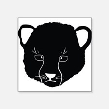 Cat Face Silhouette Sticker