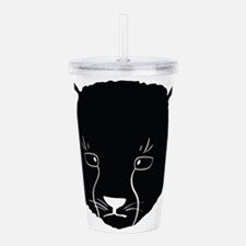 Cat Face Silhouette Acrylic Double-wall Tumbler