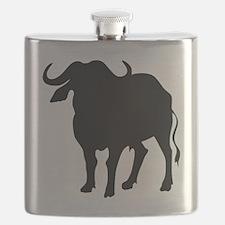 Water Buffalo Silhouette Flask