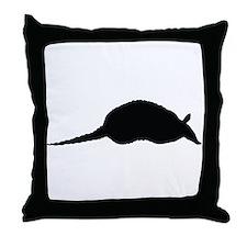 Armadillo Silhouette Throw Pillow