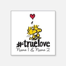"Woodstock True Love - Perso Square Sticker 3"" x 3"""