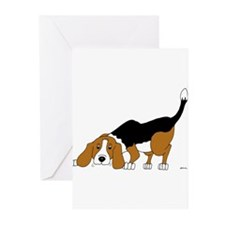 Cute Tri color hound Greeting Cards (Pk of 20)