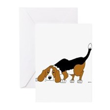 Cute Tri color beagle Greeting Cards (Pk of 20)