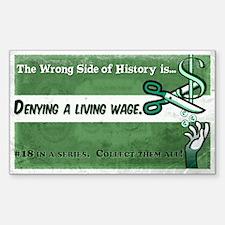 Cute Minimum wage Sticker (Rectangle)