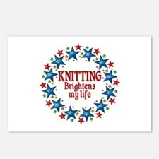 Knitting Brightens My Lif Postcards (Package of 8)