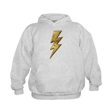Gold Lightning Bolt Kids Hoodie