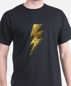 Gold Lightning Bolt T-Shirt