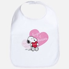 Snoopy Hugs and Kisses - Personalized Bib