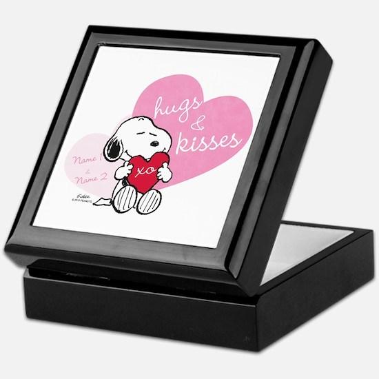 Snoopy Hugs and Kisses - Personalized Keepsake Box
