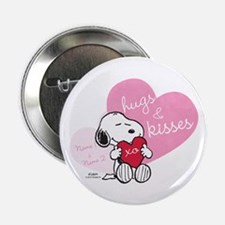 "Snoopy Hugs and Kisses - Personalized 2.25"" Button"