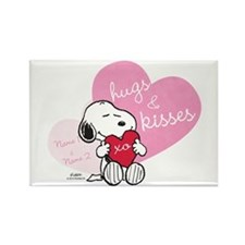 Snoopy Hugs and Kisses - Personal Rectangle Magnet