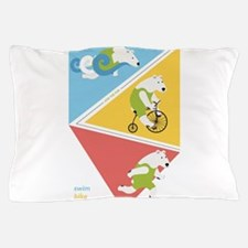 Triathlon Polar Bears Poster Pillow Case