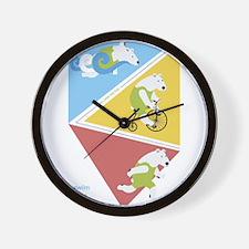 Triathlon Polar Bears Poster Wall Clock