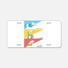 Polar Bear Triathletes Ad Aluminum License Plate
