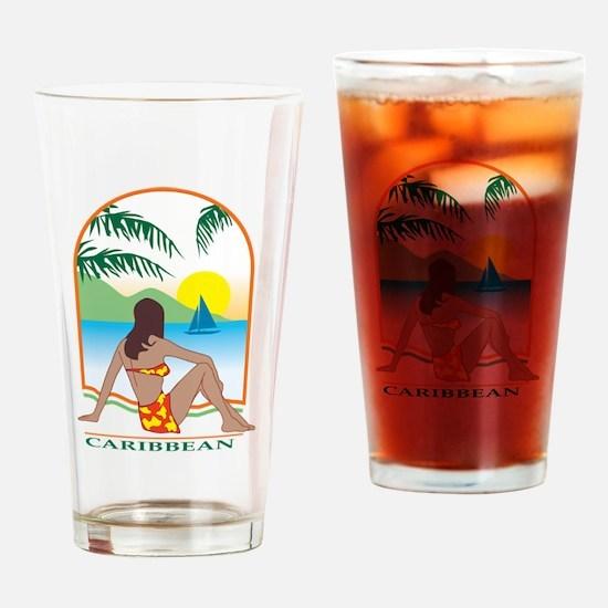 caribbean Drinking Glass