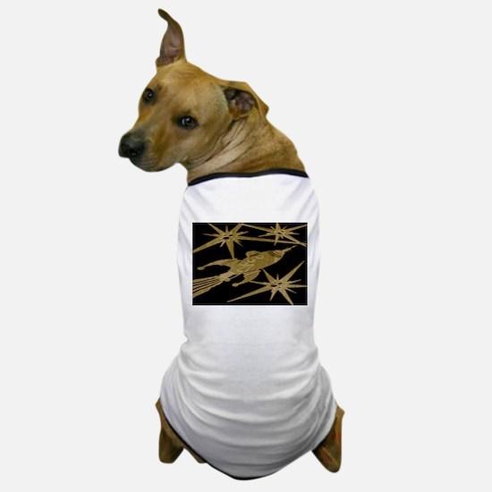Retro Rocket Ship Dog T-Shirt