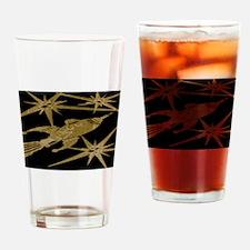 Retro Rocket Ship Drinking Glass