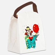 Turquoise Clown Canvas Lunch Bag