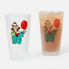 Turquoise Clown Drinking Glass