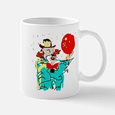 Turquoise Clown Mugs