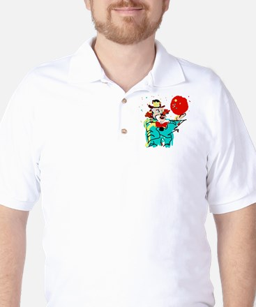 Turquoise Clown Golf Shirt