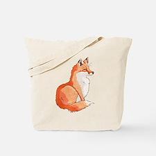 Sitting Fox Tote Bag