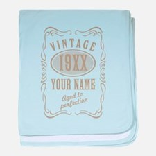 Vintage editable aged to perfection baby blanket