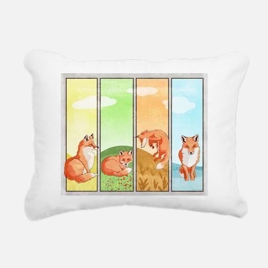 Season of the Foxes Rectangular Canvas Pillow