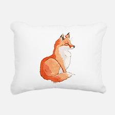 Sitting Fox Rectangular Canvas Pillow