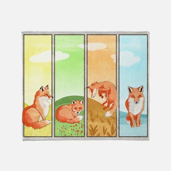Season of the Foxes Throw Blanket