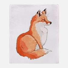 Sitting Fox Throw Blanket