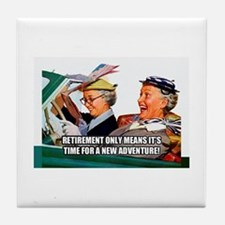 Retirement Adventure Tile Coaster