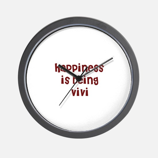 happiness is being Vivi Wall Clock