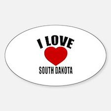 I Love South Dakota Decal