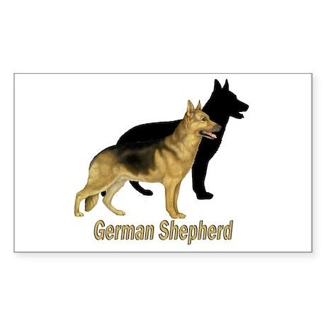 German Shepherd Profile View Rectangle Sticker