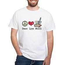 Peace Love Mulch Gardening Shirt