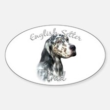 English Setter Dad2 Oval Decal
