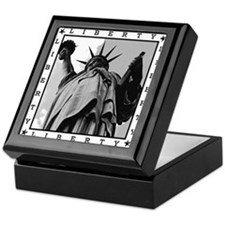 Black & White Liberty : Ceramic Keepsake Box