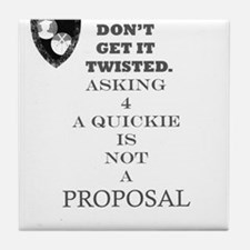 Cute Proposal Tile Coaster