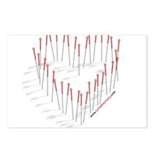 HEART NEEDLES Postcards (Package of 8)