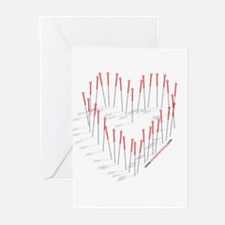 HEART NEEDLES Greeting Cards (Pk of 10)