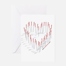 HEART NEEDLES Greeting Card