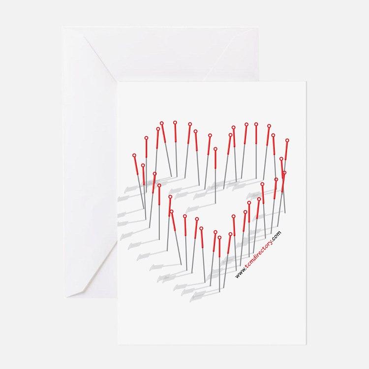 HEART NEEDLES Greeting Card