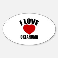 I Love OKLAHOMA Sticker (Oval)