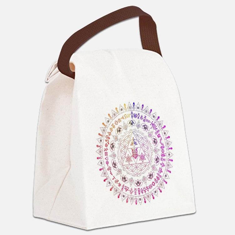 Cute Mandala owl Canvas Lunch Bag