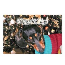 Dachshunds Happy Holidays Postcards (Package of 8)